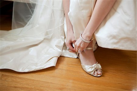 female feet close up - Close-up of Bride Stock Photo - Rights-Managed, Code: 700-05786673