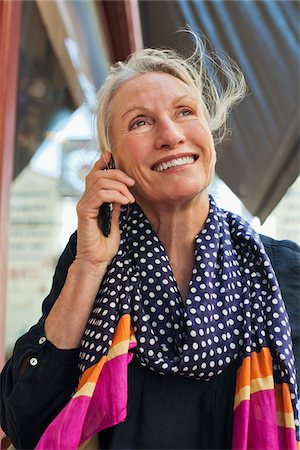Woman on Cell Phone Stock Photo - Rights-Managed, Code: 700-05780983