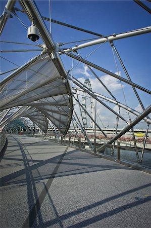 The Helix Bridge to Marina Bay Sands, Singapore Stock Photo - Rights-Managed, Code: 700-05781027