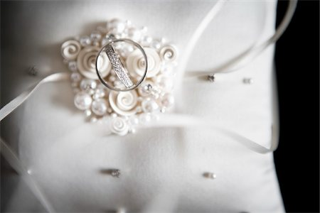 silk - Wedding Rings on Cushion Stock Photo - Rights-Managed, Code: 700-05803126