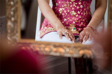 Bride's Hands Decorated with Mendhi Stock Photo - Rights-Managed, Code: 700-05803132