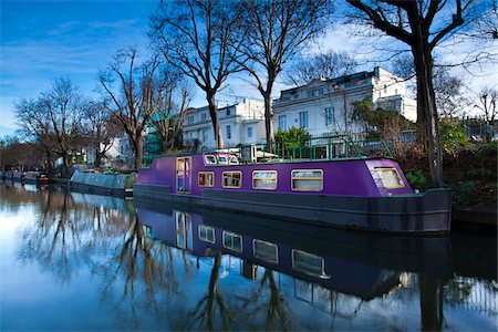 Boat Moored on Regent's Canal, Little Venice, London, England Stock Photo - Rights-Managed, Code: 700-05803174