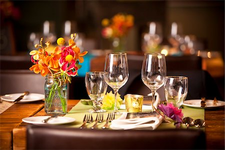 Place Setting at Wedding Reception Stock Photo - Rights-Managed, Code: 700-05803288