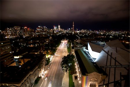 Overview of City at Night, Toronto, Ontario, Canada Stock Photo - Rights-Managed, Code: 700-05803335