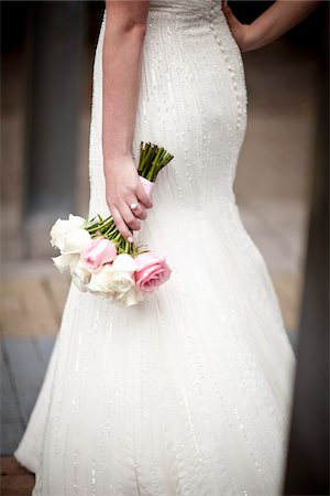 female rear end - Bride Holding Bouquet Stock Photo - Rights-Managed, Code: 700-05803344