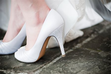 Close-Up of Bride's Shoes Stock Photo - Rights-Managed, Code: 700-05803357