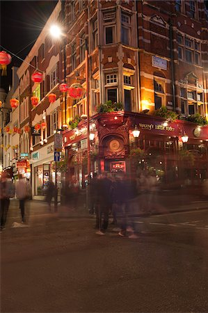 european bar building - Chinatown at Night, Leicester Square, London, England Stock Photo - Rights-Managed, Code: 700-05803403