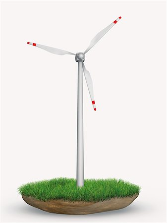 Wind Turbine in Patch of Grass Stock Photo - Rights-Managed, Code: 700-05803431