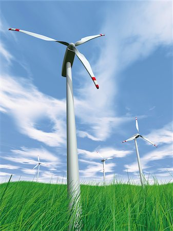 Wind Turbines in Field Stock Photo - Rights-Managed, Code: 700-05803432