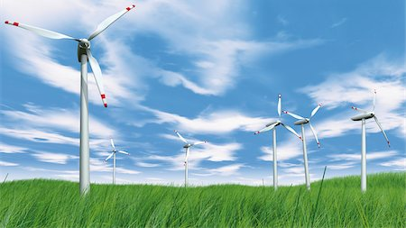 Wind Turbines in Field Stock Photo - Rights-Managed, Code: 700-05803433