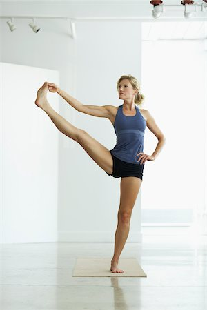 Woman Doing Yoga Stock Photo - Rights-Managed, Code: 700-05803442