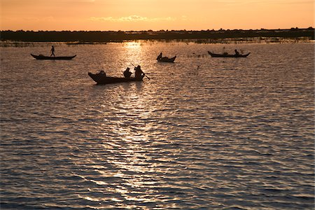 Boats on Tonle Sap Lake, Mechrey, near Siem Reap, Cambodia Stock Photo - Rights-Managed, Code: 700-05803488