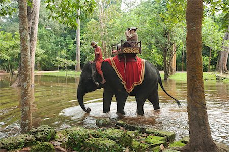 People Riding Elephant, Bayon Temple, Angkor Thom, Siem Reap, Cambodia Stock Photo - Rights-Managed, Code: 700-05803542