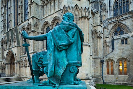 Statue in Front of York Minster, York City, North Yorkshire, England Stock Photo - Rights-Managed, Code: 700-05803567