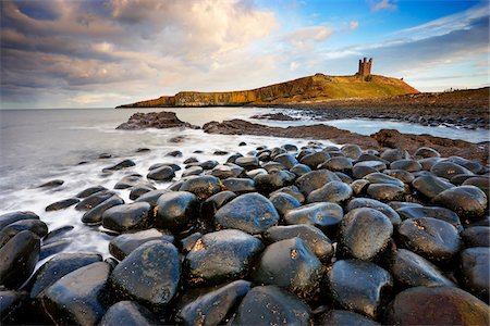 View of Dunstanburgh Castle, Embleton Bay, Northumberland, England Stock Photo - Rights-Managed, Code: 700-05803725