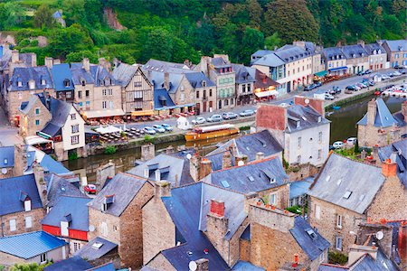 Rooftops, Dinan, Cotes-d'Armor, Bretagne, France Stock Photo - Rights-Managed, Code: 700-05803749