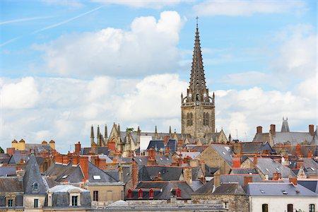 Rooftops of Vitre, Ille-et-Vilaine, Bretagne, France Stock Photo - Rights-Managed, Code: 700-05803740