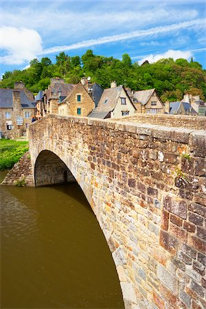 Arch Bridge over the Rance River, Dinan, Cotes-d'Armor, Bretagne, France Stock Photo - Rights-Managed, Code: 700-05803743