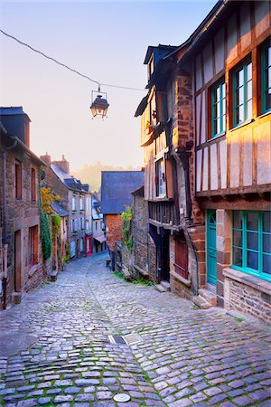 Dinan at Sunrise, Cotes-d'Armor, Bretagne, France Stock Photo - Rights-Managed, Code: 700-05803752
