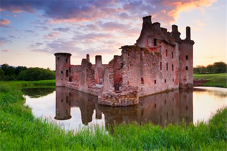 Ruin of Caerlaverock Castle, Dumfries and Galloway, Scotland Stock Photo - Rights-Managed, Code: 700-05803769