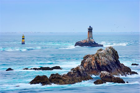 Lighthouse at Pointe Raz, Finistere, Bretagne, France Stock Photo - Rights-Managed, Code: 700-05803760