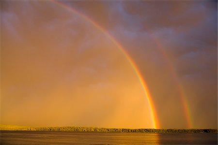 rainbow - Double Rainbow over Lake Stock Photo - Rights-Managed, Code: 700-05810159