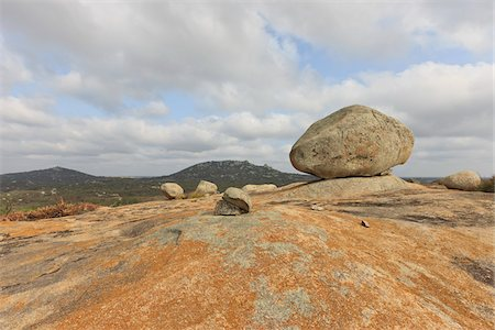 rugged landscape - Lichen and Boulders, Lajedo de Pai Mateus, Cabaceiras, Paraiba, Brazil Stock Photo - Rights-Managed, Code: 700-05810228