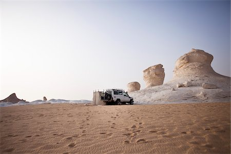 Jeep Camping, White Desert, Libyan Desert, Egypt Stock Photo - Rights-Managed, Code: 700-05821786