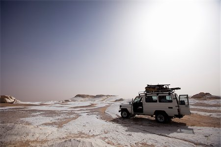 Jeep in White Desert, Libyan Desert, Egypt Stock Photo - Rights-Managed, Code: 700-05821789