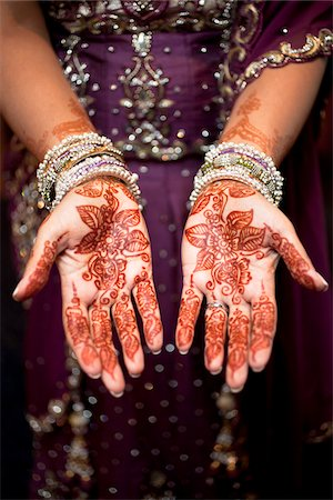 Bride with Henna on Hands Stock Photo - Rights-Managed, Code: 700-05821804