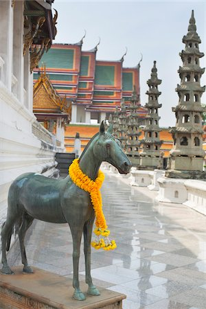 southeast asian - Horse Statue, Wat Suthat, Bangkok, Thailand Stock Photo - Rights-Managed, Code: 700-05821919