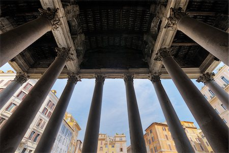 Detail of the Pantheon, Rome, Lazio, Italy Stock Photo - Rights-Managed, Code: 700-05821967