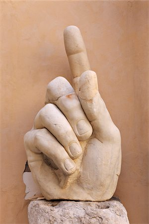 Hand From Statue of Emperor Constantine, Capitoline Museums, Piazza del Campidoglio, Rome, Italy Stock Photo - Rights-Managed, Code: 700-05821969