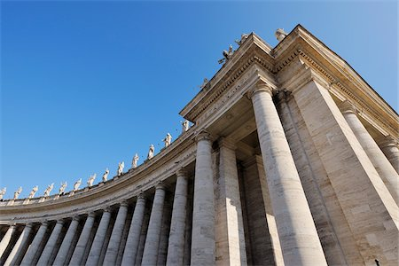 pillar - Saint Peter's Basilica Colonnade, Saint Peter's Square, Vatican City, Rome, Italy Stock Photo - Rights-Managed, Code: 700-05821963