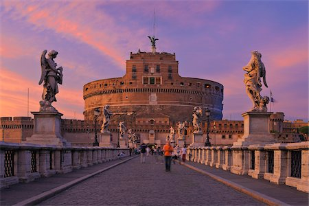 Castel Sant'Angelo and Ponte Sant'Angelo, Rome, Lazio, Italy Stock Photo - Rights-Managed, Code: 700-05821970