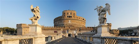 Castel Sant'Angelo and Ponte Sant'Angelo, Rome, Lazio, Italy Stock Photo - Rights-Managed, Code: 700-05821972