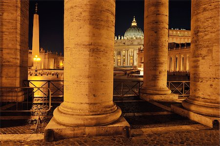 Saint Peter's Basilica Colonnade, Saint Peter's Square, Vatican City, Rome, Italy Stock Photo - Rights-Managed, Code: 700-05821973
