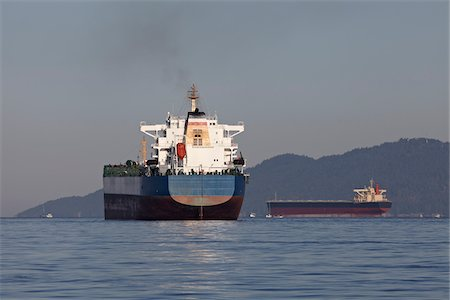 ships at sea - Ocean Freighter, Vancouver, British Columbia, Canada Stock Photo - Rights-Managed, Code: 700-05822050