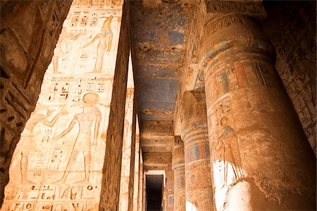 egyptian hieroglyphics - Queen Hatshepsut Temple, Luxor, Egypt Stock Photo - Rights-Managed, Code: 700-05822120