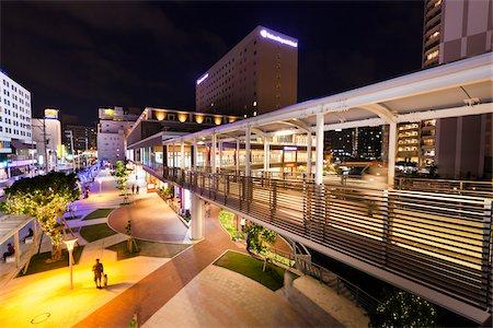 City Center at Night, Naha. Okinawa, Japan Stock Photo - Rights-Managed, Code: 700-05837416