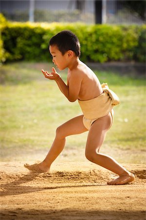 Young Sumo Wrestler, Tokunoshima, Kagoshima Prefecture, Japan Stock Photo - Rights-Managed, Code: 700-05837417