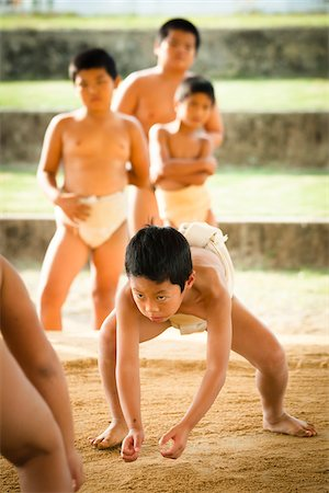 Young Sumo Wrestlers, Tokunoshima, Kagoshima Prefecture, Japan Stock Photo - Rights-Managed, Code: 700-05837418