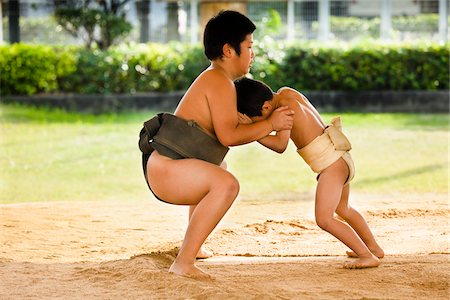 Young Sumo Wrestlers, Tokunoshima, Kagoshima Prefecture, Japan Stock Photo - Rights-Managed, Code: 700-05837419