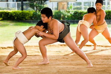 Young Sumo Wrestlers, Tokunoshima, Kagoshima Prefecture, Japan Stock Photo - Rights-Managed, Code: 700-05837420