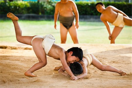 Young Sumo Wrestlers, Tokunoshima, Kagoshima Prefecture, Japan Stock Photo - Rights-Managed, Code: 700-05837421
