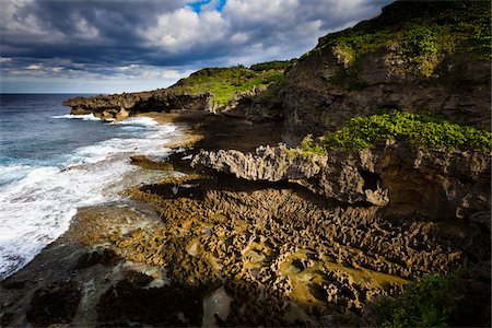 rugged landscape - Cape Innojofuta, Tokunoshima Island, Kagoshima Prefecture, Japan Stock Photo - Rights-Managed, Code: 700-05837439