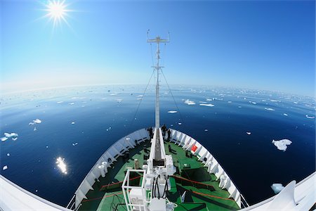 quest - Expedition Vessel in Pack Ice, Greenland Sea, Arctic Stock Photo - Rights-Managed, Code: 700-05837522