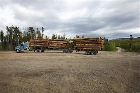 Logging Truck Stock Photo - Rights-Managed, Code: 700-05837594