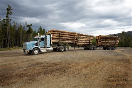 forestry - Logging Truck Stock Photo - Rights-Managed, Code: 700-05837597