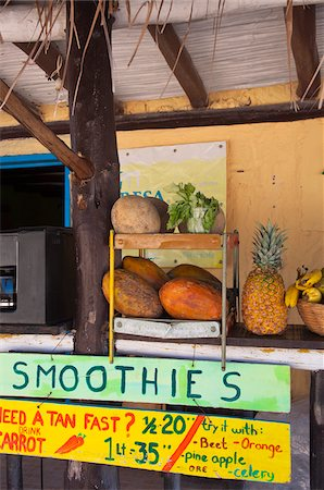 Smoothie Stand, Isla Holbox, Quintana Roo, Mexico Stock Photo - Rights-Managed, Code: 700-05854902